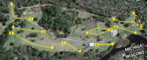 Norrie Park Disc Golf Map Ironwood, Michigan