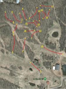 Mt. Zion Disc Golf Map Ironwood Michigan