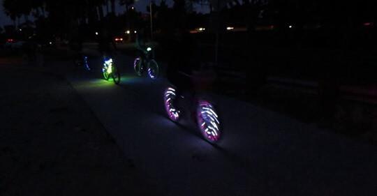 Lighted Bike Parade