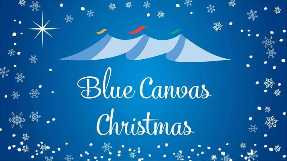 Blue Canvas Christmas